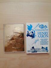 1996 Classic 23KT Gold Hank Aaron Commemorative Home Run King  755