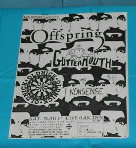 vintage original punk flyer OFFSPRING Guttermouth Nonsense Old Nick Live Oak Inn