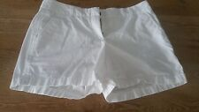 "NWOT J.Crew women size 8 solid white broken-in 5"" inseam chino shorts"