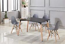 Lot de 4 chaises design tendance rétro eiffel bois chaise de salle à manger Gris