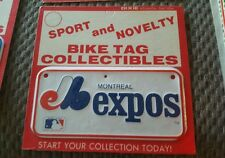 VINTAGE 1970s MONTREAL EXPOS 6 INCH BICYCLE LICENSE PLATE ,NOS