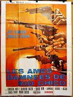 Plakat Cinema Western 1971 Les Ames Verrückte Du Rio Chico Paolo Solvay
