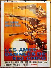 AFFICHE CINEMA WESTERN 1971 LES AMES DAMNEES du RIO CHICO Paolo Solvay 120X160cm