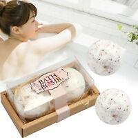 2Pcs in Gift Box Flower Bath Bomb Moisturizing Natural Essential Oil Relax Lush