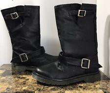"Men's Demonia ""Rage"" Classic Punk Goth Darkwave Black Double Strap Boot Size 11"