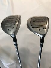 Warrior Custom Fairway Wood Set #5 21 Degree #3 15 Degree Steel Shaft Used