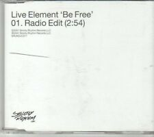 (DH883) Live Element, Be Free - 2001 DJ CD