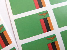 Mini Sticker Pack, Self-Adhesive Zambia Flag Labels, FR274