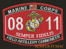 MOS 0811 Field Artillery Cannoneer US MARINES PATCH Howitzer Battery Cannon Crew