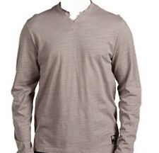 Hause of Howe Vapor Slub Long Sleeve Notch Tee (M) Crate Grey