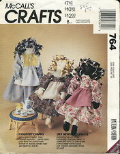 McCalls 764 Country Chums Primitive Dolls & Clothes Craft Sewing Pattern