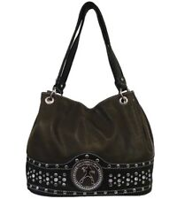 Brown Elvis Presley Rhinestone & Studded Accented Purse