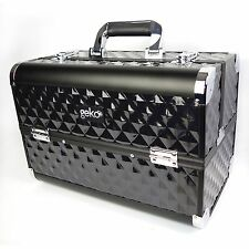 Professional Designer Custodia bellezza Storage MAKE UP Box Heavy Duty BLACK