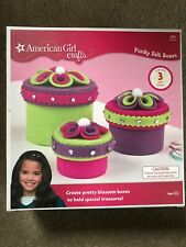 American Girl Crafts Funky Felt Box Kit. Nwt Complete. Great Deal!