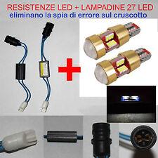 LUCI TARGA GIULIETTA - KIT RESISTENZE + LAMPADINE 27 LED T10 - W5W NO ERRORE
