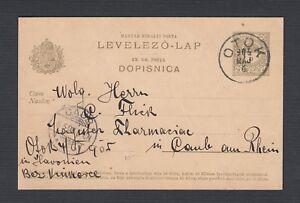 HUNGARY 1904/5 TWO POSTAL STATIONERY CARDS OTOK & AGRAM-ZAGREB TO GERMANY