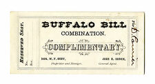 Original Ticket to ''Buffalo Bill'' Cody's Wild West Show
