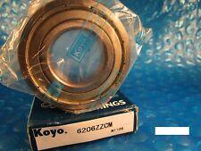 KOYO 6206 ZZ CM, 2Z ,2ZR (=2 Timken 206KDD, SKF, NSK, FAG, NTN)