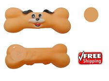 Dog Pet Puppy Toy Tough Rubber Screaming Squeaky sound Chew play Bone treat gift