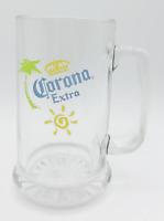 Corona Extra Advertising Glass Beer Mug Stein - Starburst Base