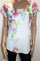 suzannegrae Brand Cream Floral Short Sleeve Blouse Top Size 12 BNWT #SH37