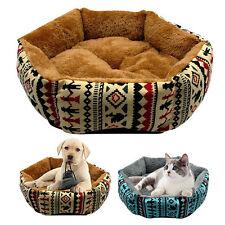 Warm Dog Beds Cotton Fleece Pet Cat Basket Puppy Cushion Blanket Mattress S M L