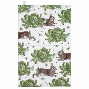 Thornback & Peel Rabbit and Cabbage Cotton Tea Towel