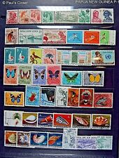 PAPUA NEW GUINEA 1957-1998 COLLECTION - 250 STPS FM LARGE WORLD ESTATE COLLECTN