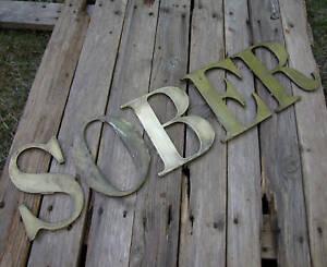 Vintage Brass SOBER Lettering Letters