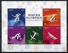 Liberia 2018 MNH Winter Olympics PyeongChang 5v M/S I Biathlon Skiing Stamps
