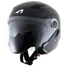 Astone Helmets-fj10m Mbkxl Fj10 Fibra Casco Jet Nero opaco Taglia XL