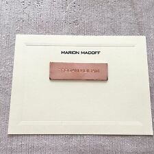 Bernie Madoff Family Stationery Note Card Copper Printing Die Block Engraved 1