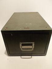Vintage Metal Drawer 9×7x15 Card File Green Office Cabinet Weis Metal Stackable