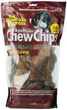 The Rawhide Express Beef hide Chew Chips Flavored Great Reward or Treat 16oz