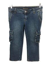 Seductions Capris Cargo Pants Jeans Stretch Juniors 3 Womens Actual 28 x 22