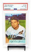 1954 Bowman #164 HOF Indians EARLY WYNN Vintage Baseball Card PSA 4 VG-EX