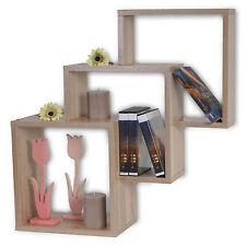 Scaffale libreria Nyon II pensile design moderno legno truciolato quercia D