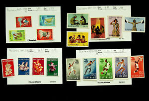 SURINAME NATIVE ART OLYMPIC GAMES FLOWERS SCOUT JAMBOREE 18v MH STAMPS