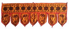 Yellow Indian embroidered toran door valances wall hanging Elephant Home Decor