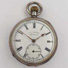 J. G. Graves Sheffield Taschenuhr in 935er Silber um 1910 - ø 51,3 mm - ca.93,1g