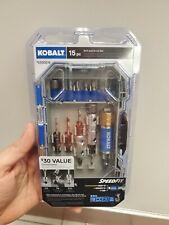 Kobalt Uncoated Steel 15-Piece Magnetic Tip Screwdriver Bit Set with Hard Case
