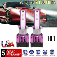 2x H1 Led Headlight High Low Beam Ultra Slim Light Smd Bulbs White Vehicle Lamp (Fits: Subaru)