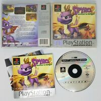 SPYRO 2 GATEWAY TO GLIMMER PLATINUM LABEL VERSION FOR PLAYSTATION 1 WITH MANUAL