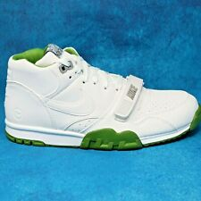 Nike Air Trainer 1 Mid SP Fragment Wimbledon Green White US Open Mens Size 9