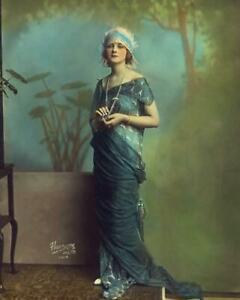 Antique Photo .. Actress Alice Terry , Color Tinted Flapper Era Photo Print 8x10