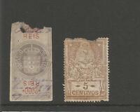 Brazil 2000 Reis  Imposto Do Selo  Stamp Duty Tax Revenue   Argentina 5 Centavos