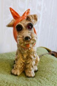 Goebel Rauchverzehrer Hund mit Schleife, Lampe