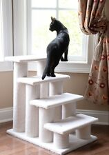 Bed Steps Pet Stairs Dog Cat Climbing Help 4 Step Senior Aid Stable Wood 25 In