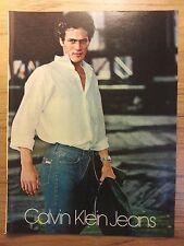 Original 1979 Calvin Klein Vintage Print Ad from Playboy Passport Scotch reverse
