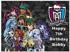 """Monster High Personalised A4 Cake Topper Edible Wafer Paper 7.5"""" By 10"""""""